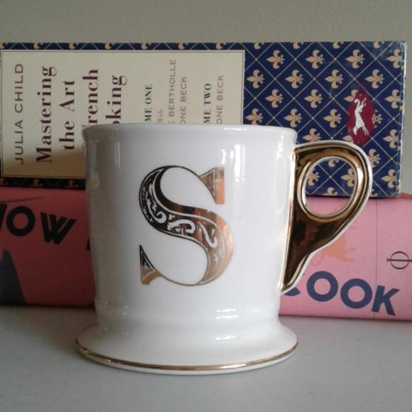 Anthropologie monogram limited edition coffee mug.
